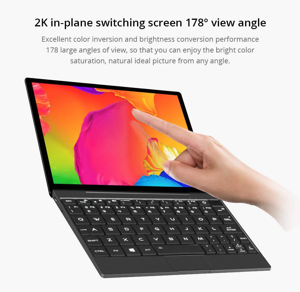 "Magic-Ben MAG1 4G LTE Pocket Laptop 8.9"" IPS Touchscreen 2560*1600 Intel Core m3-8100y 16GB Memory 512GB SSD Full metal Slim body Ultra Light Backlit Keyboard Fingerprint Window 10 - Black"