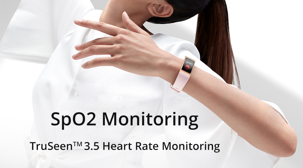 Huawei Band 4 Pro Smart Bracelet 0.95 Inch AMOLED Screen Built-in GPS Heart Rate Sleep Monitor 5ATM Waterproof - Blue