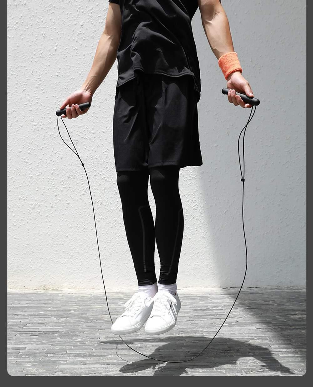 Xiaomi YUNMAI สมาร์ทเทรนนิ่งเชือกกระโดดเชือกปรับได้หัวเข็มขัด 3 เมตร - ดำ