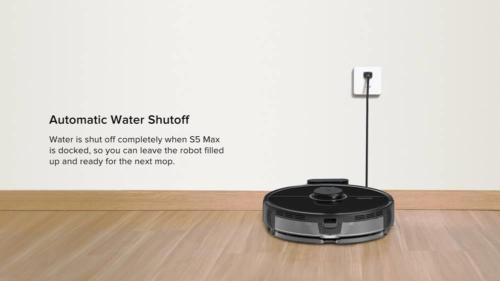 Roborock S5 Max Roboter-Staubsauger Virtual Wall Automatische Gebiet Reinigungs 2000 Pa Absaug- 2 in 1 Fegen Mopping Funktion LDS Wegplanung International Version - White
