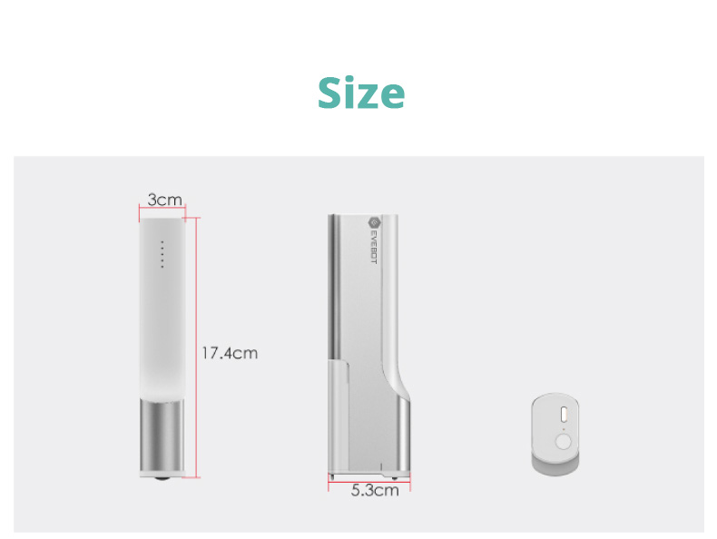 EVEBOT Mini Portable Print Pen WIFI Connection Android/ iOS Compatible 1200mAh Battery Type-C Interface Printer - White