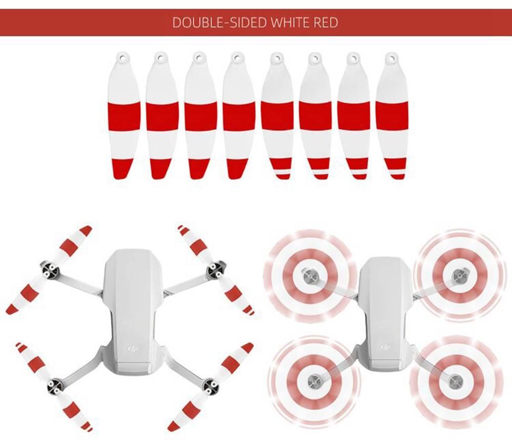 8pcs Sunnylife 4726F Colorido CW CCW Split Hélice de liberação rápida para DJI Mavic MINI RC Aircraft - Vermelho