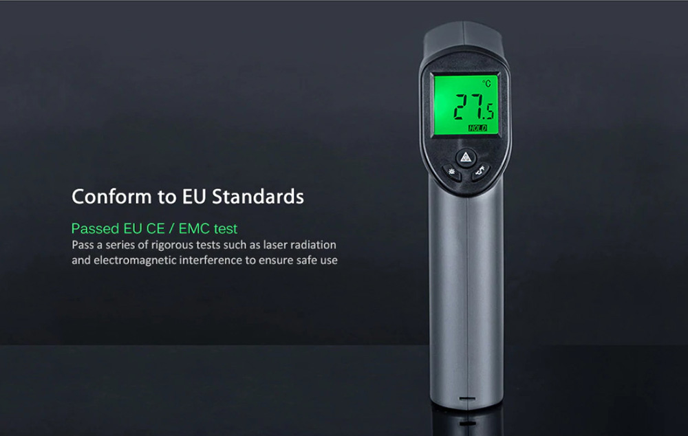 Xiaomi AKKU AK332 HD Non-contact Infrared Laser Thermometer Temperature Measuring Tool - Grey