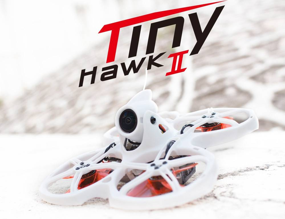 Emax Tinyhawk II Indoor FPV Racing Drone With F4 4-in-1 5A 37CH 200mW RunCam Nano 2 Adjustable Camera LED BNF - White