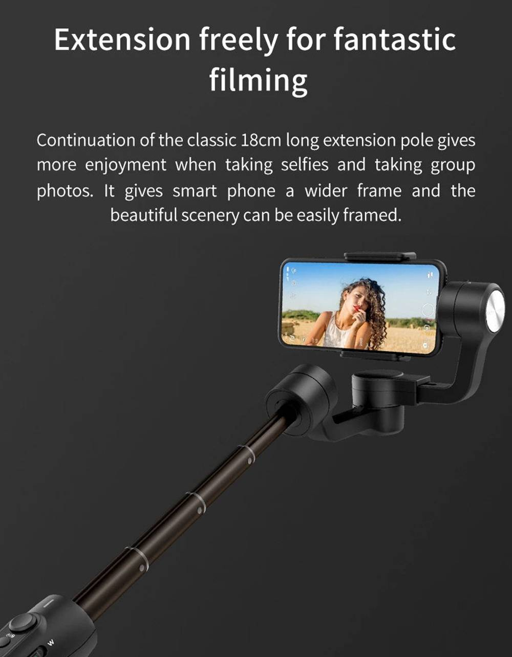 Feiyu Tech Vimble 2S Telescopic Smartphone Action Camera 3Axis Vlog Handheld Stabilizer Gimbal