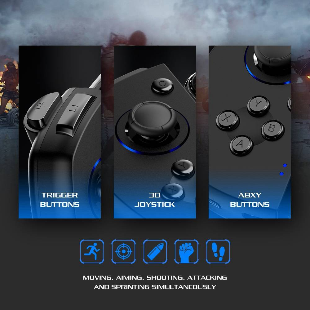GameSir G6S Nordic 52832 Bluetooth 5.0 Gamepad G-Touch Tech 40 Hours Playtime for Below 6.57'' Android/IOS phone - Black