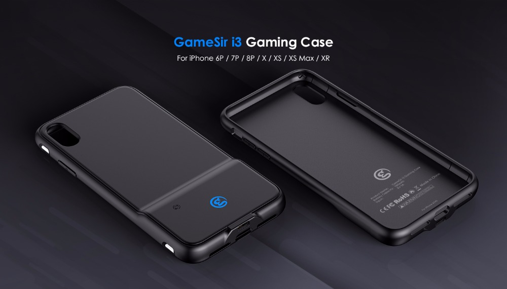 GameSir i3 Wieless Gaming Phone Case With Dual Touch Button For iPhone 6P / 7P / 8P - Black