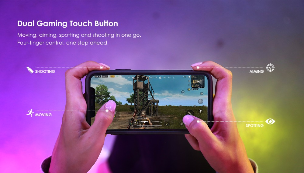 GameSir i3 Wieless Gaming Phone Case With Dual Touch Button For iPhone X / XS - Black