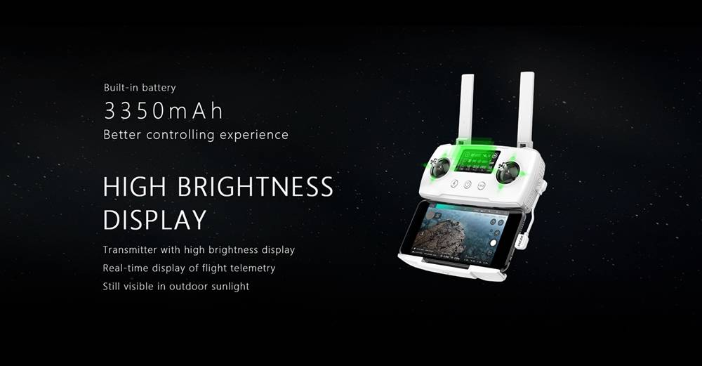 Hubsan ZINO 2 5G WIFI 6KM FPV 4K/60fps GPS Foldable RC Drone With 3Axis Detachable Gimbal 33mins Flying Time RTF Standard Version - White