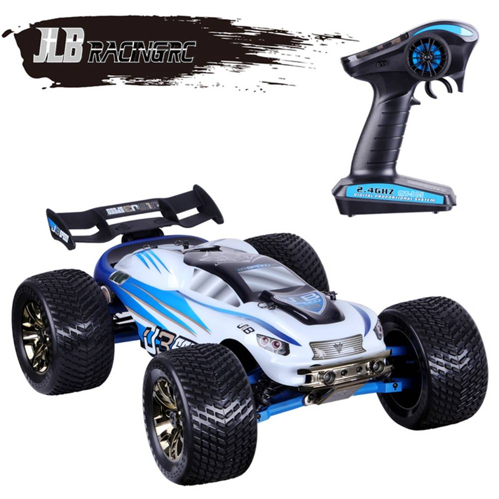 JLB Racing J3SPEED 1:10 2.4G 4WD Brushless 120A Waterproof Off-road Monster Truck Vehicles RC Car RTR - White