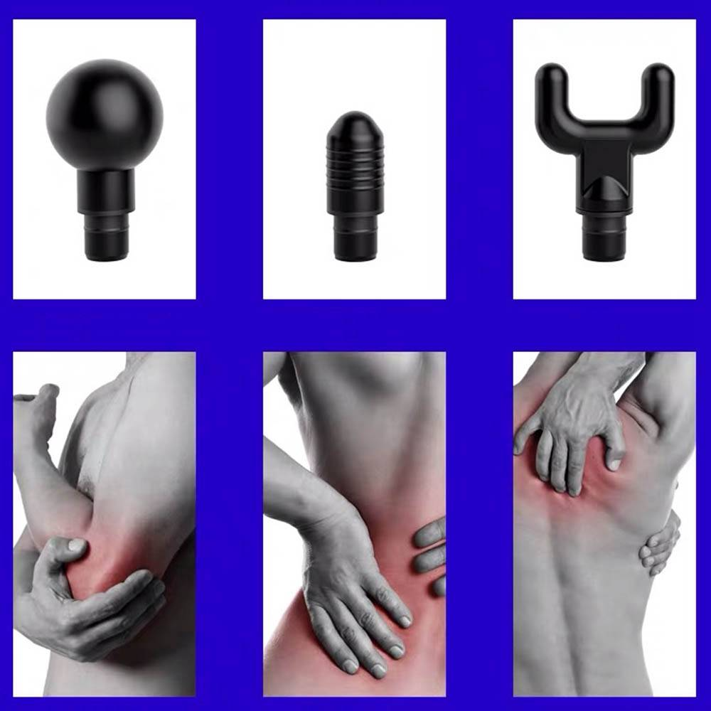 MG-011 Electric Fascia Gun Deep Tissue Muscle Massage Device Professional Body Relaxation Massager US Plug - Black