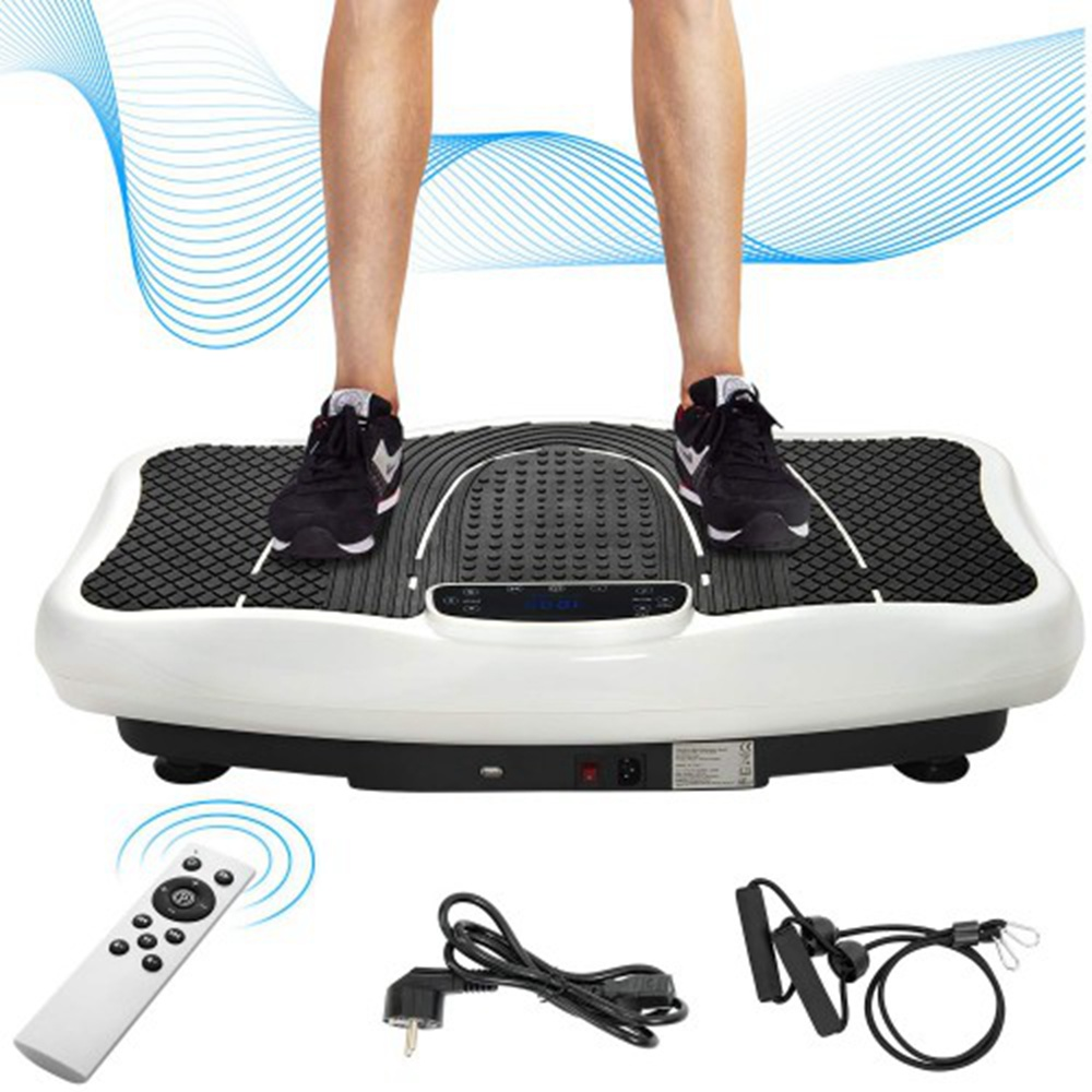Merax Vibration Plate Trainer Fitness Machine Professional 2D Wipp Vibration With Bluetooth Speaker - White