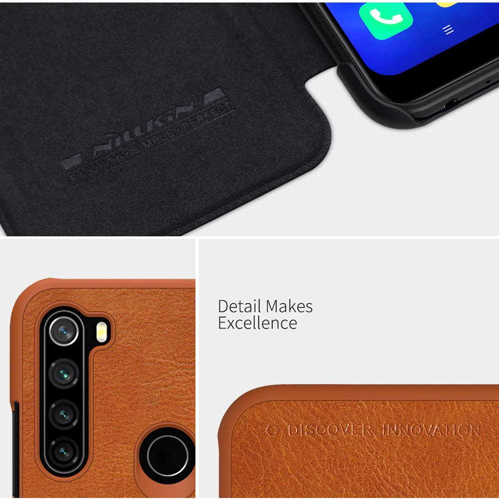 NILLKIN Protective Leather Phone Case For Xiaomi Redmi Note 8T - Black
