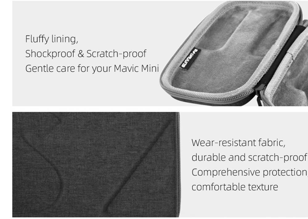 Sunnylife RC Aircraft Drone Expansion Spare Parts Portable Storage Bag For DJI Mavic MINI - Gray