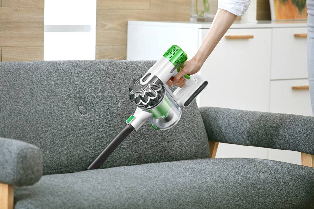 Vacuum Cleaner P9 Cordless Vacuum Cleaner 15KPa Powerful Suction 45 Minutes Running Time Anti-winding Hair Mite 2-in-1 Stick Vacuum - White & Green