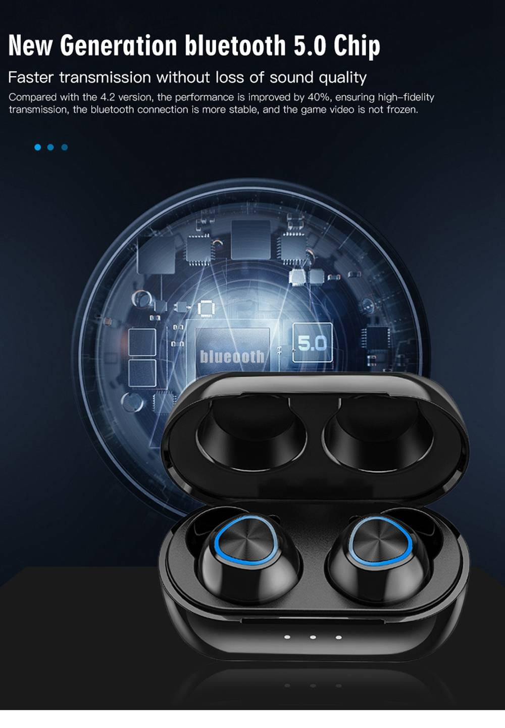 Remax TWS-16 Bluetooth 5.0 valódi vezeték nélküli fülhallgató Siri Binaural Call 4 órás játékidő - fekete