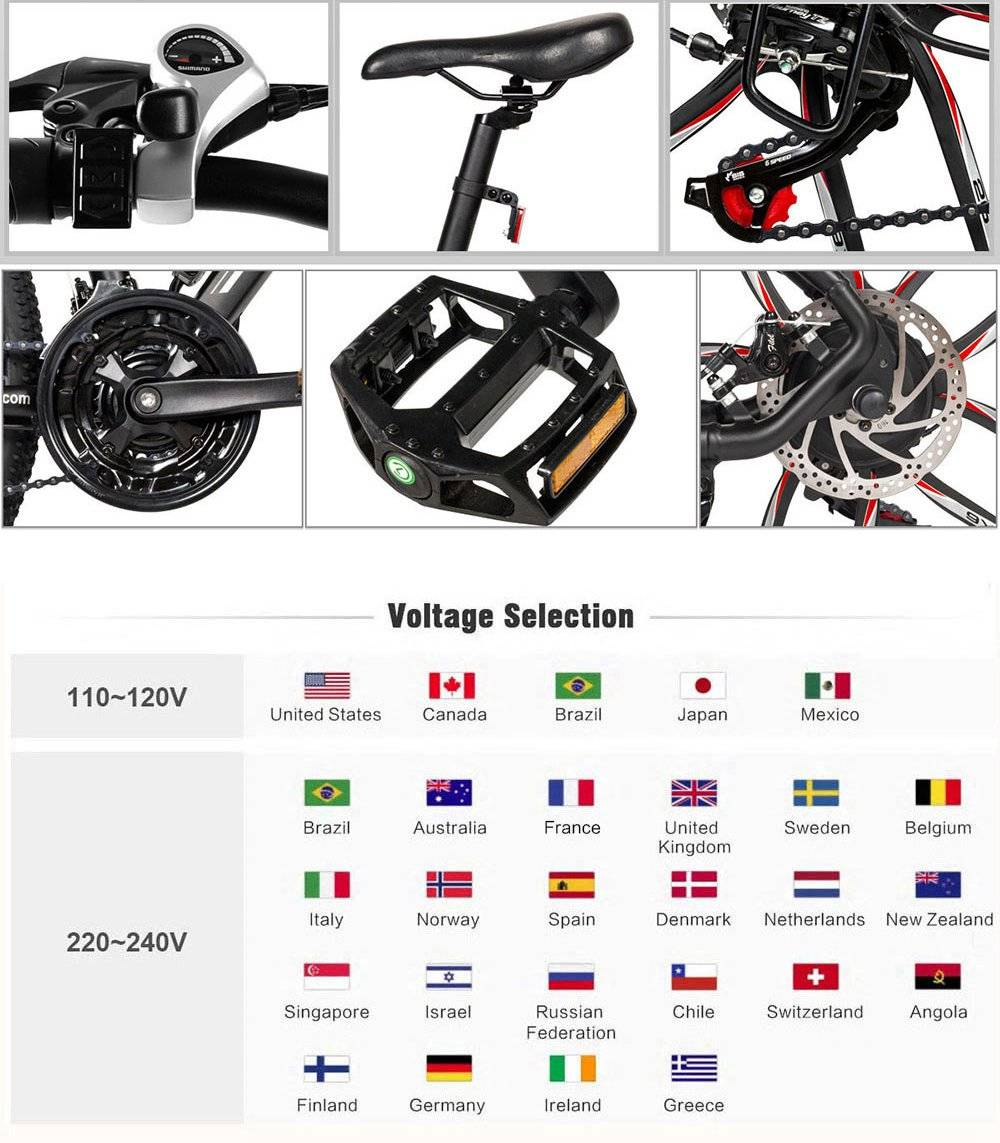 "Samebike MY-SM26 Folding Electric Bike 26"" Inflatable Tire 350W Motor 8Ah Lithium Battery Three Riding Modes Dual Disc Brake LCD Display - Black"