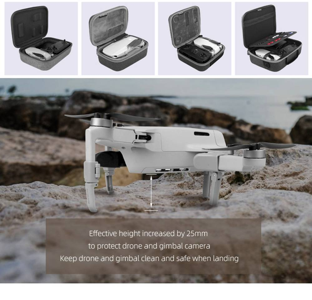 Sunnylife RC Drone Aircraft Expansion Spare Parts Foldable Landing Gear For DJI Mavic MINI - Gray
