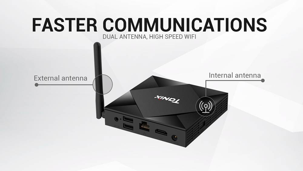 TANIX TX6S Allwinner H616 Android 10.0 TV Box 2GB/16GB 2.4G+5.8G WiFi LAN Bluetooth TF Card Slot USB 2.0x3