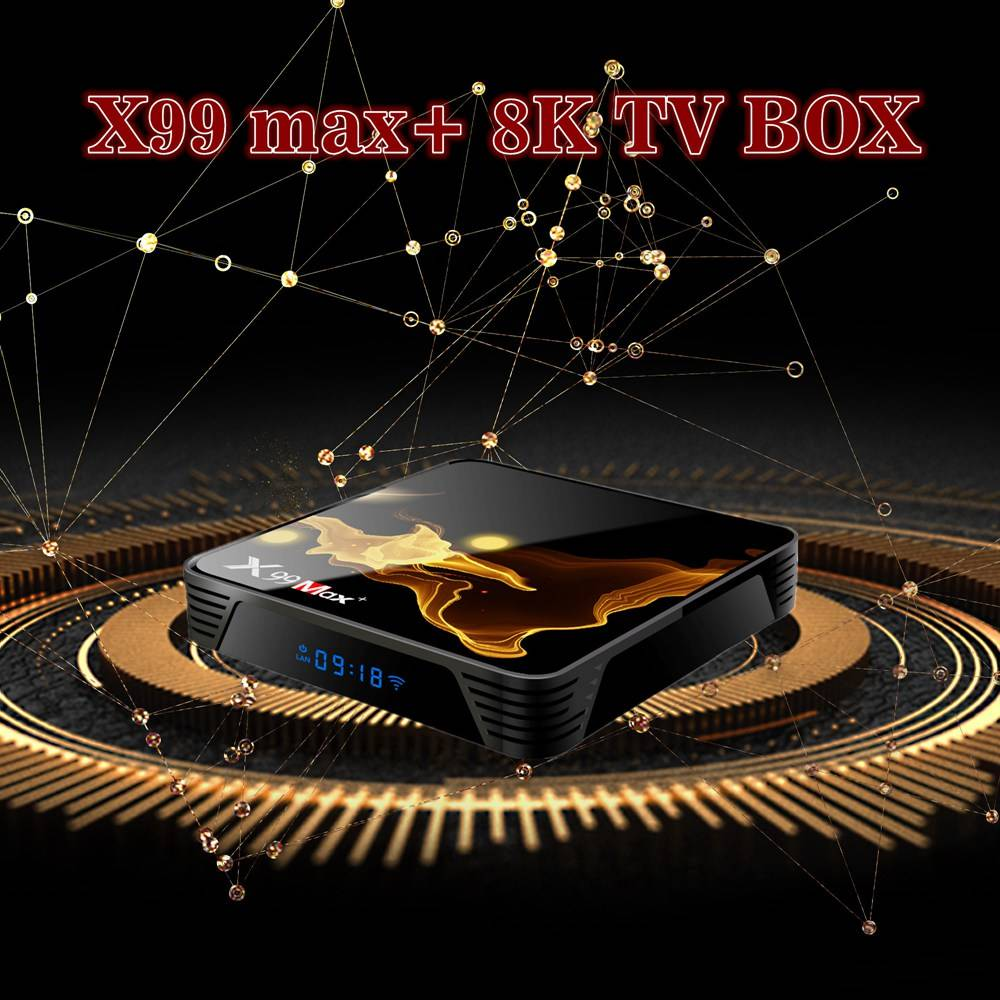 X99 MAX Plus Amlogic S905x3 Android 9.0 8K Video Decode TV Box 4GB/32GB 2.4G+5.8G WiFi Bluetooth 1000Mbps LAN USB3.0