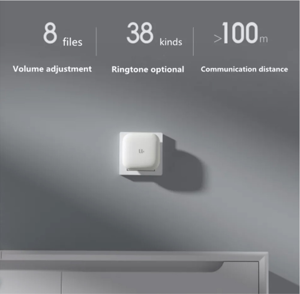 YOUDIAN R1 Smart Video Door Bell With Receiver 120 Degree Wide Angle 1080P IR Night Vision From Xiaomi Youpin - White