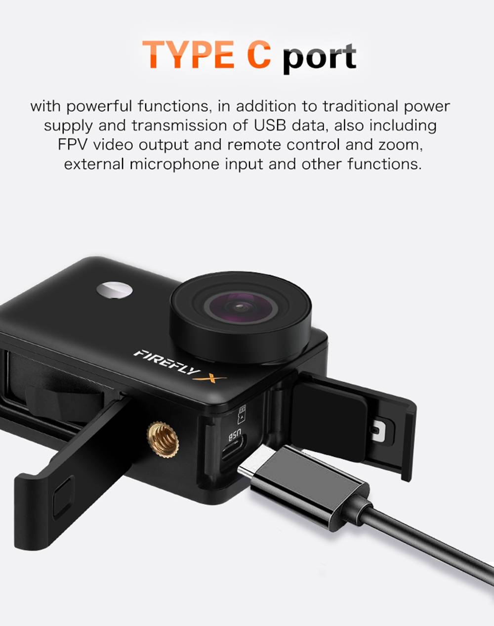 Hawkeye Firefly X 4K/60fps 2.35 Inch IPS Touch Screen Ambarella H22 7X Digital Zoom WIFI FPV Action Sport Camera - Black