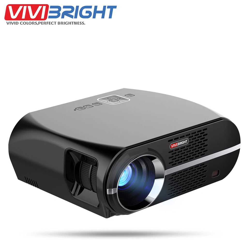 GP100 Video Projector,MTFY 3500 Lumens Portable LCD 1080P HD LED Projector,Home Theater Projector Basic Version