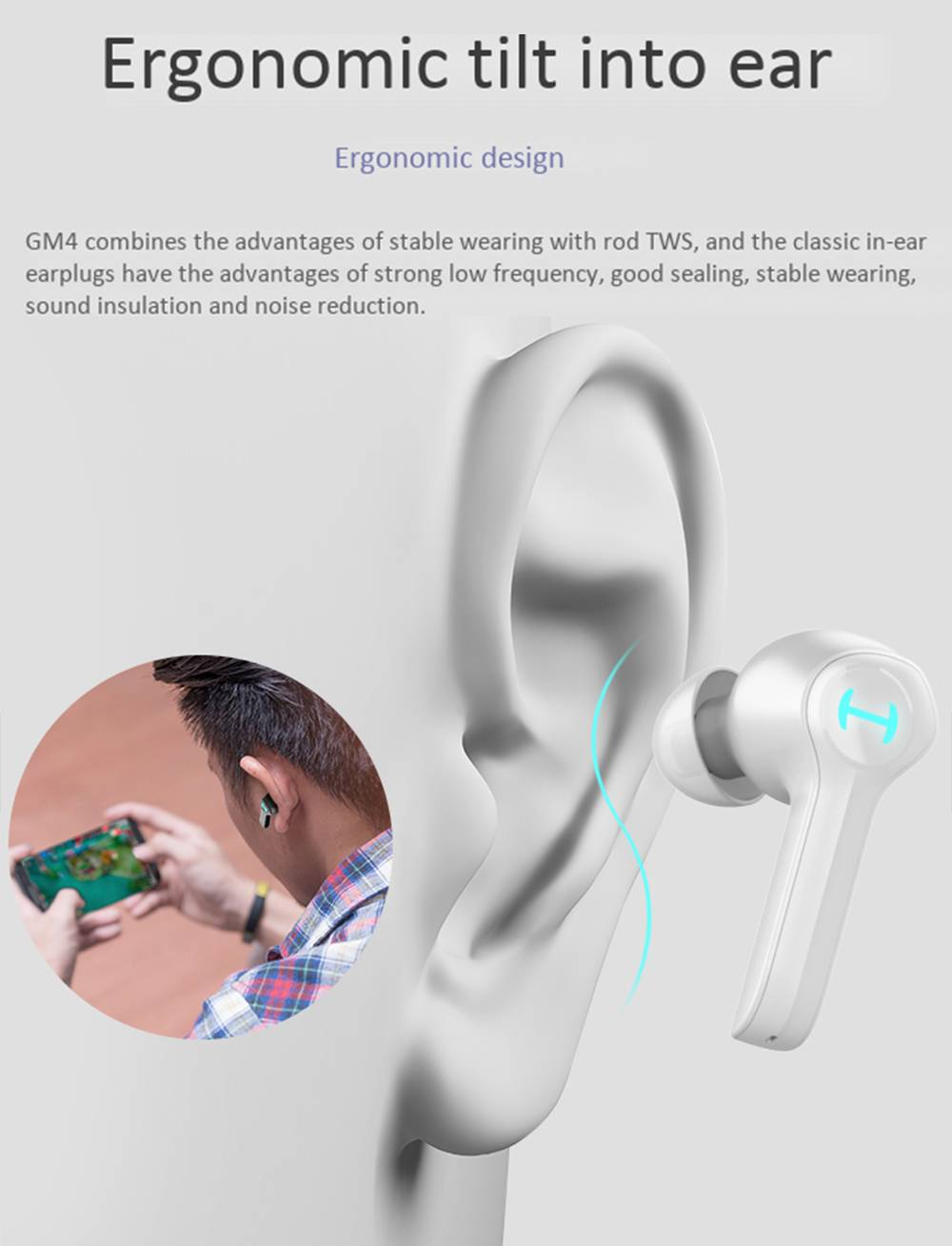 EDIFIER HECATE GM4 Bluetooth 5.0 True Wireless Earphones PAU160X with Ultra-Low Latency Game Mode Google Assistant Siri Used Independently 16 Hours Playback Time - Black