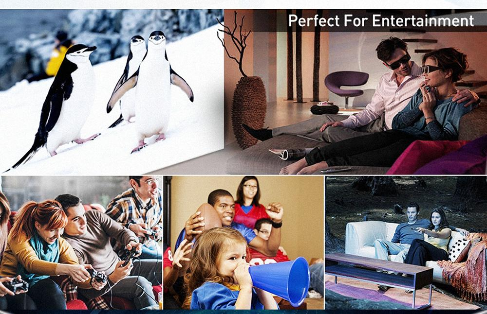 "VIVIBRIGHT F40 Native 1080P Projector, 4200White LED Light 300"" Display Full HD Home Theater Projector Basic Version"