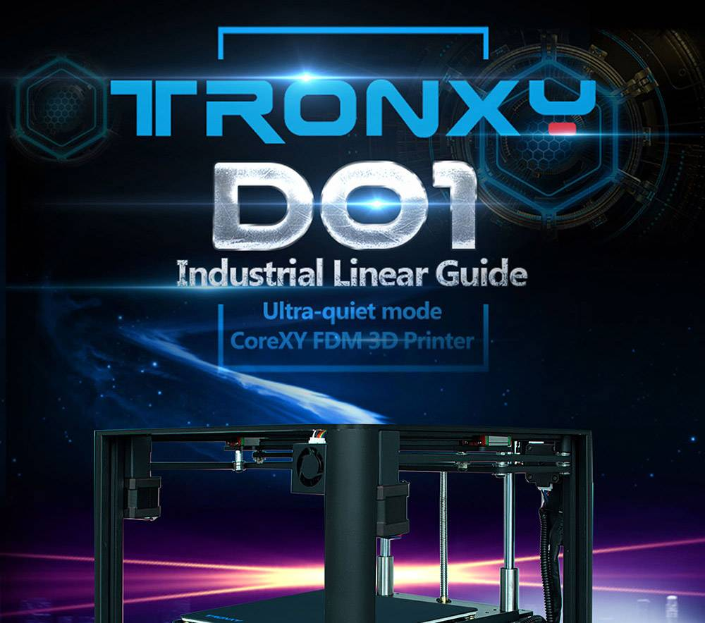 TRONXY D01 3D Printer Fast Assembly with Industrial Linear Guide Titan Extruder 3D Printing Ultra-Quiet Mode,Acrylic Mas