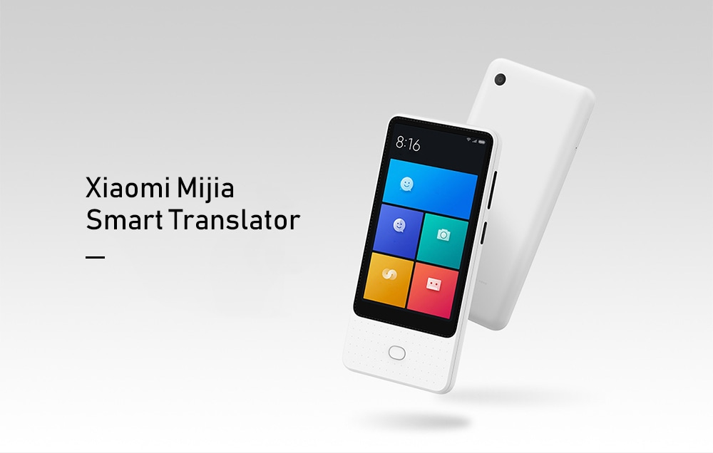 XIAOMI MIJIA WIFI+4G 4.1'' IPS Screen Translator with 18 Languages Translation 8MP Camera Voice Recording - White
