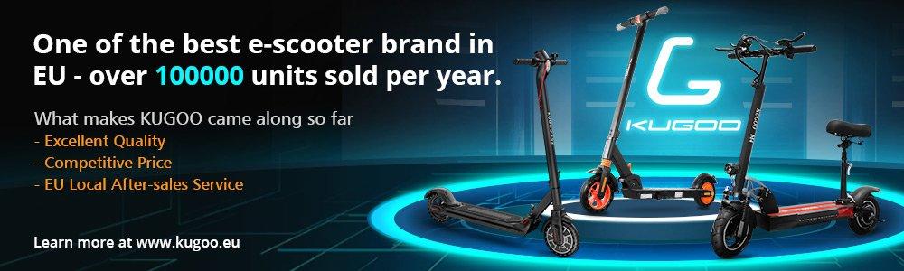 KUGOO S1 Scooter elettrico pieghevole Motore 350W Schermo LCD Display Modalità 3 Velocità Max 30km / h - Nero