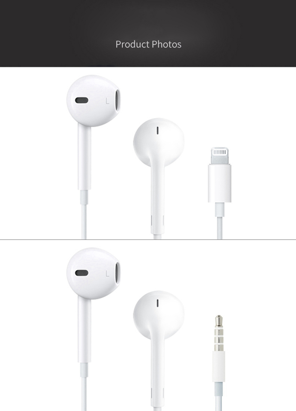 Apple EarPods with 3.5mm Plug for iPhone 6s/6s Plus - White