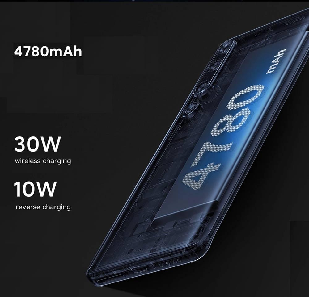 Xiaomi Mi 10 CN Version 5G Smartphone 6.67 Inch Screen Snapdragon 865 12GB RAM 256GB ROM Quad Rear Camera 4780mAh Large Battery Android 10.0 WiFi 6 Dual SIM - Black