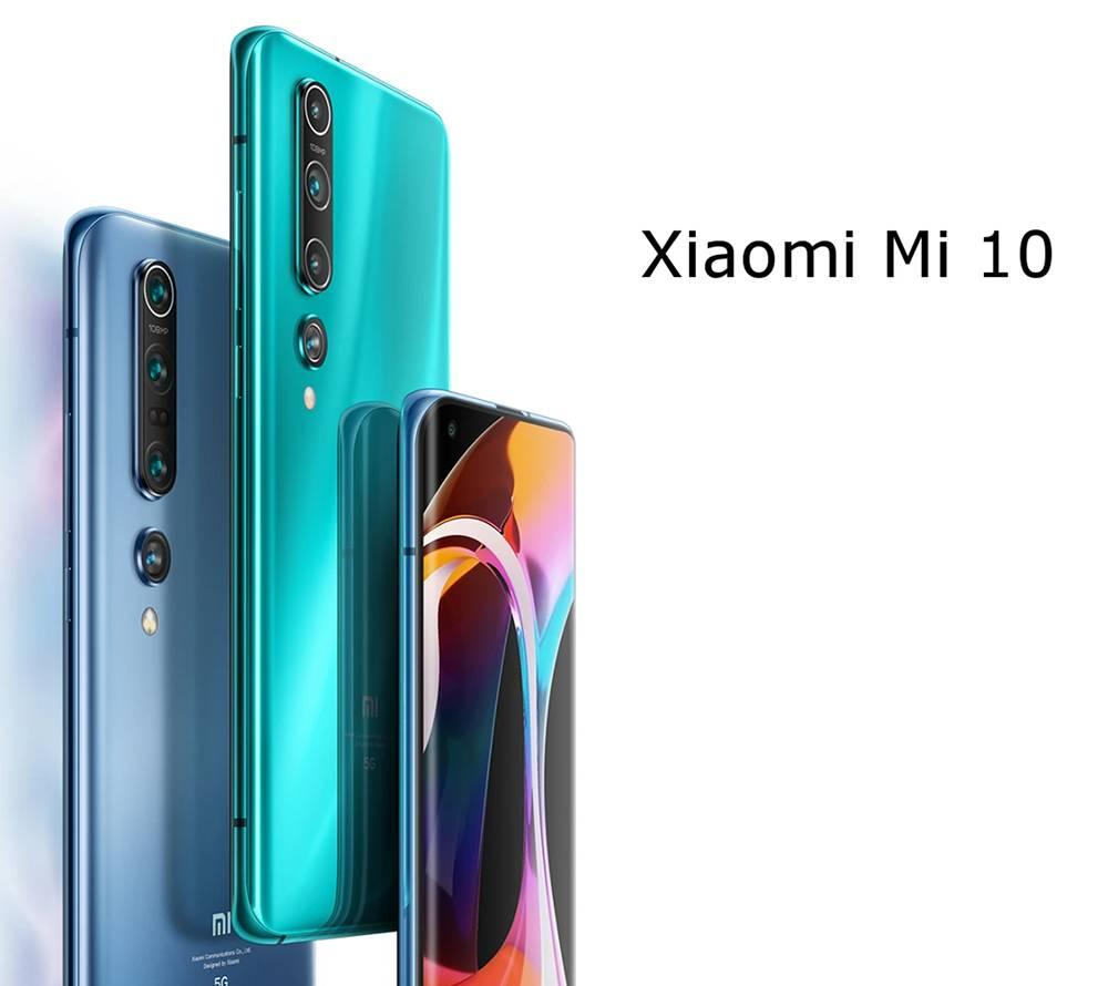 Xiaomi Mi 10 CN Version 5G Smartphone 6.67 Inch Screen Snapdragon 865 12GB RAM 256GB ROM Quad Rear Camera 4780mAh Large Battery Android 10.0 WiFi 6 Dual SIM - Gold