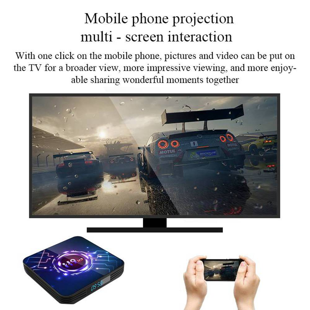 H9-X3 Amlogic S905x3 2GB/32GB Android 9.0 8K Video Decoding TV Box with Mobile Control Youtube Netflix Google Play 2.4G+5.8G WiFi Bluetooth LAN USB3.0 HDMI 2.1 - Black