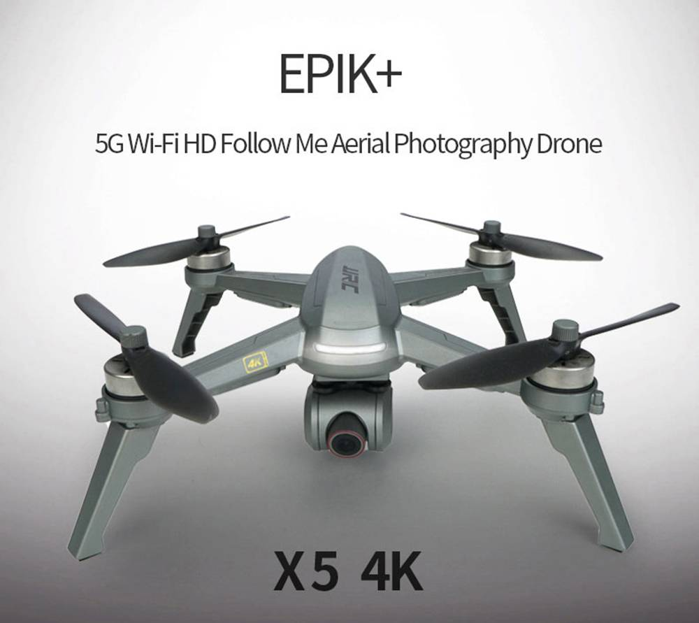 JJRC X5P EPIK+ 5G WIFI GPS 4K HD Camera RC Drone 20mins Flight Time Follow Me Mode - Black