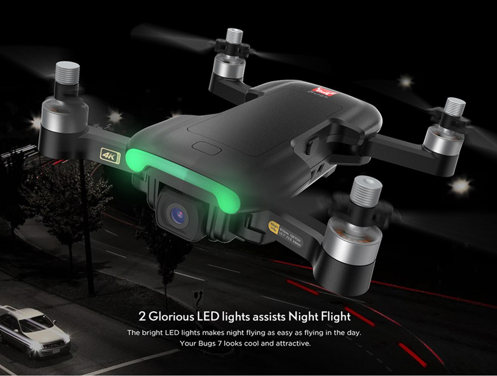 MJX Bugs B7 4K 5G WIFI GPS Drone RC pliable avec caméra Flux optique Positionnement RTF - Trois batteries
