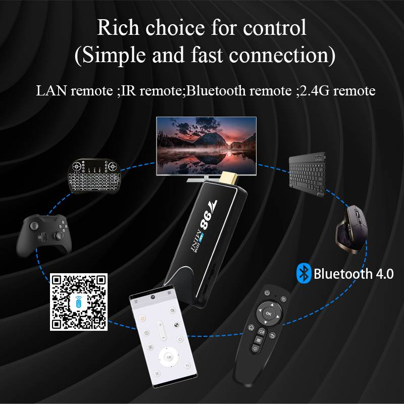 T98 Mini Allwinner H6 2GB/16GB Android 9.0 6K HDR TV BOX with Youtube Google Play Netflix WiFi LAN Bluetooth USB3.0 - Black