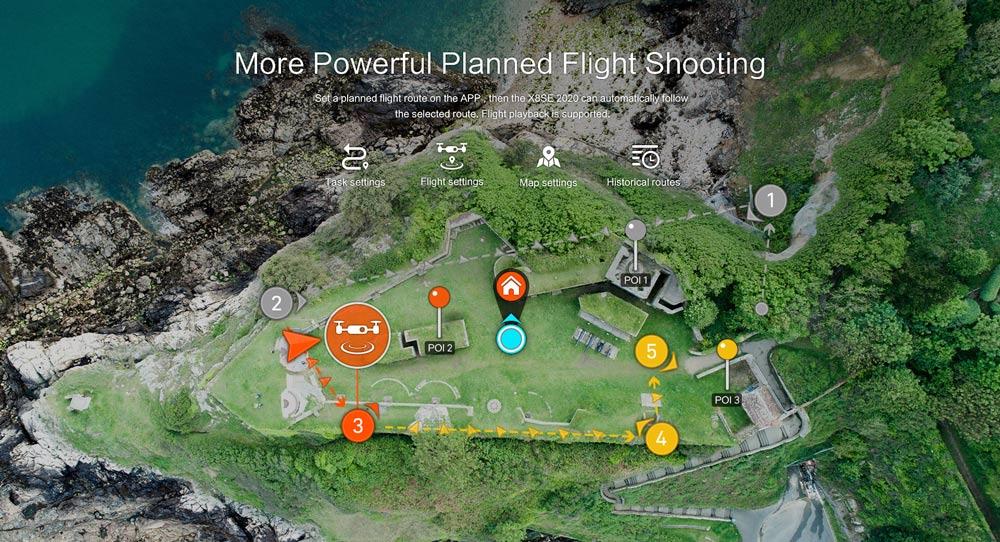 Xiaomi FIMI X8 SE 2020 4K Camera 8KM GPS WiFi FPV Foldable RC Drone with 3-Axis Gimbal 35mins Flight Time RTF - White
