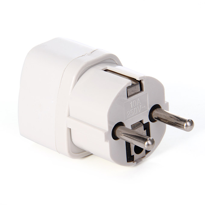 2PCS UK US AU to US Travel Converter AC Plug Power Charger Charing Adapter