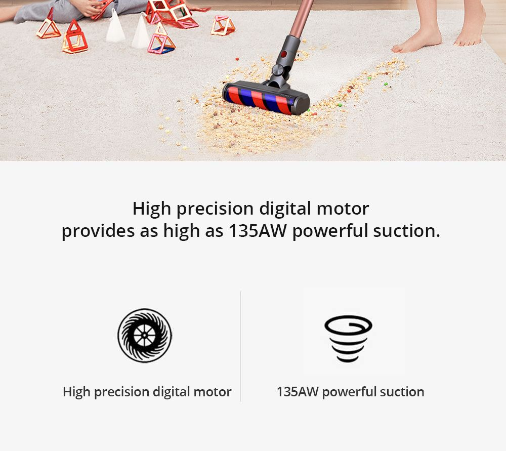 JIMMY JV83 Pet Wireless Handheld Vacuum Cleaner 20Kpa Strong Suction 400W Digital Brushless Motor 60 Minute Run Time Anti-winding Hair Global Version - Gold