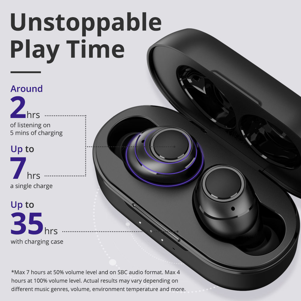 Tronsmart Onyx Free UV Sterilization TWS Earbuds Qualcomm QCC3020 IPX7 Qualcomm aptX Mono/Stereo Mode Pop Up Pairing  Voice Assistant