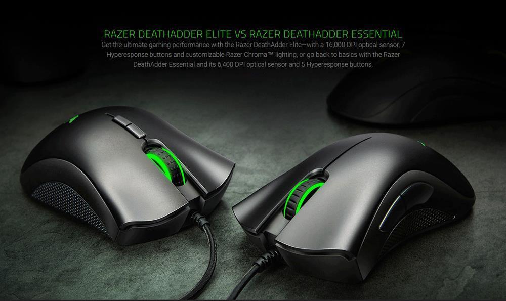 Souris Razer DeathAdder Essential filaire pour gamer 6400 dpi prix maroc