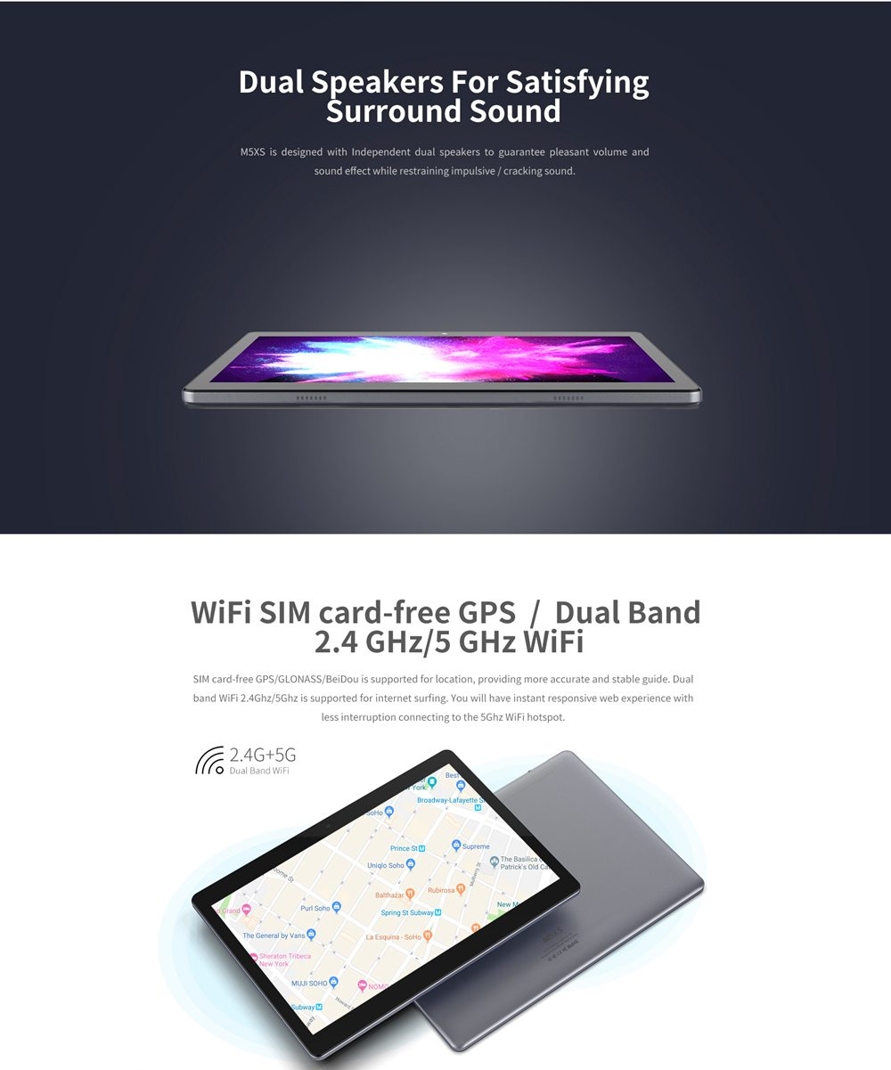 Планшет ALLDOCUBE M5XS 4G 10,1-дюймовый экран 1920 x 1200 IPS MTK X27 3 ГБ ОЗУ 32 ГБ ПЗУ Android 8.0 6600 мАч Батарея с двумя динамиками - белый