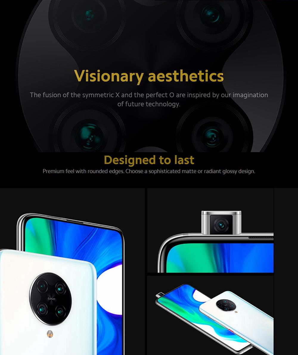 Xiaomi POCO F2 Pro 5G Smartphone Global Version 6.67 Inch AMOLED Screen Qualcomm Snapdragon 865 6GB RAM 128GB ROM Android 10.0 Quad Rear Camera 4700mAh Battery NFC - Electric Purple