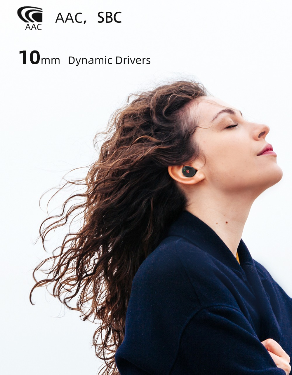 dyplay ANC Shield Bluetooth 5.0 TWS Earphones Active Noice Cancelling 45H Playtime Independent Use Airoha 1536 Auto Pairing