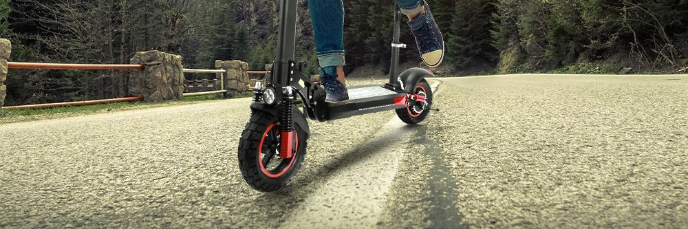 "KUGOO KIRIN M4 PRO Folding Electric Scooter 10"" Off-road tyre 500W Brushless Motor 48V 13Ah Battery 3 Speed Modes Dual Disc Brake Max Speed 45KM/h LED Display 55KM Long Range - Black"