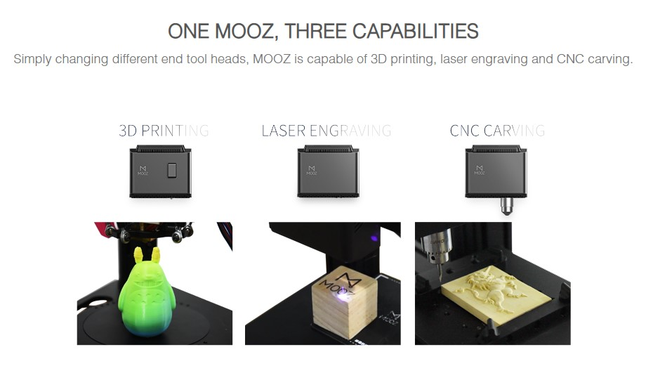 Dobot MOOZ-1 Industrial Grade Transformable Metallic 3D Printer Single Z-Axis Linear Guideway Supports Laser  CNC Printing