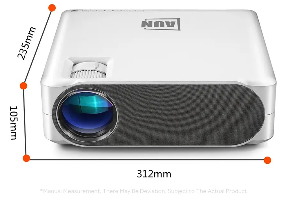 AUN BRIGHT LIFE! AKEY6S 5800LM Native 1080P Android LED Projector WiFi Bluetooth Miracast HDMI VGA USB AV SD